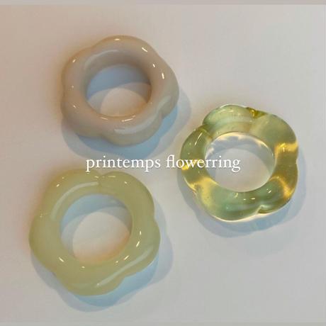 flowerglassring(peachcream)