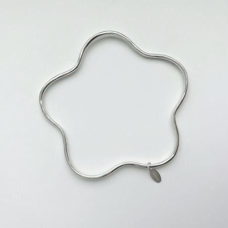 flower925_bangle(silver)