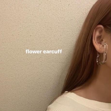 glassflower earcuff(clear)