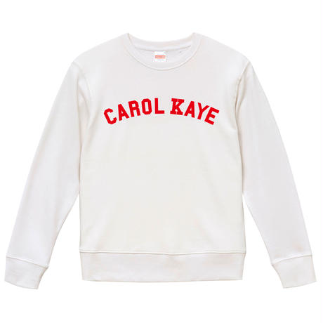 【Carol Kaye/キャロルケイ】9.3オンス スウェット/WH/SW- 587