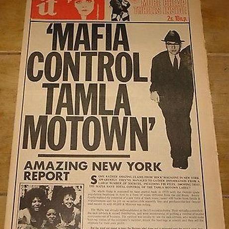 【MAFIA CONTROL TAMLA MOTOWN/タムラ・モータウン】5.6オンス Tシャツ/WH/ST-046_bk