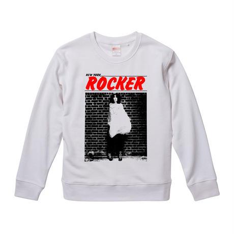 【 NEWYORK ROCKER/patti smith-パティ・スミス】 9.3オンス スウェット/WH/SW- 384