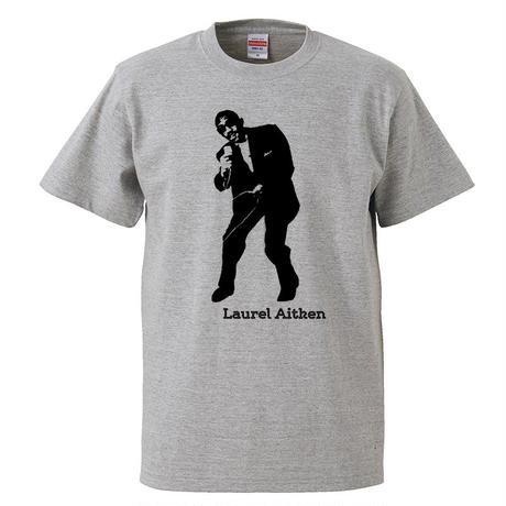 【Laurel Aitken/ローレル・エイトキン】5.6オンス Tシャツ/GY/ST-054_bk