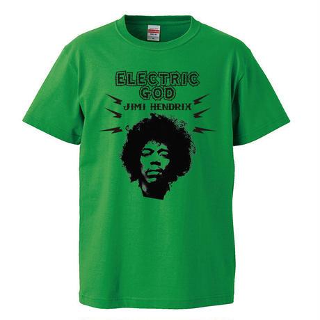 【Electric God-Jimi Hendrix/ジミ・ヘンドリックス】5.6オンス Tシャツ/GR/ST- 320