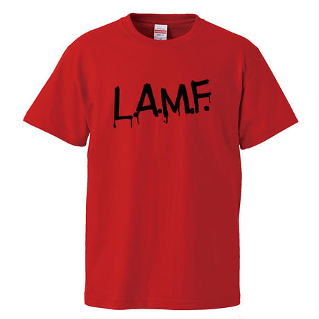 【L.A.M.F/JONNY THUNDERS & THE HEARTBREAKERS】5.6オンス Tシャツ/RED/ST- 148