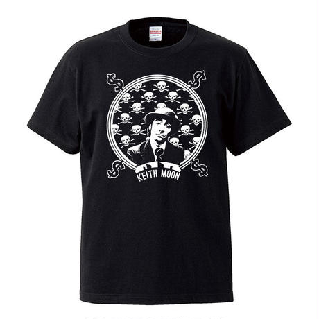【Kieth Moon-キース・ムーン/The who】5.6オンス Tシャツ/BK/ST- 282