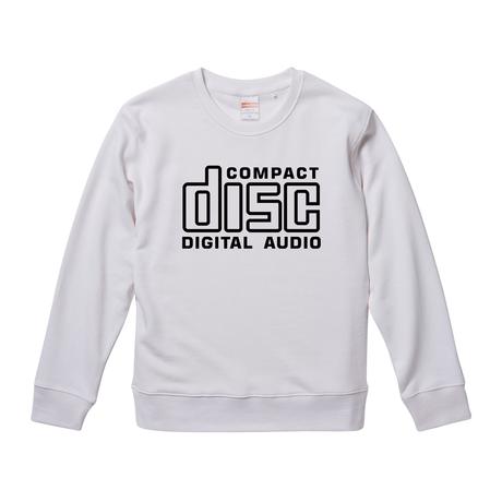 【 Compact Disc Digital Audio】 9.3オンス スウェット/WH/SW- 375