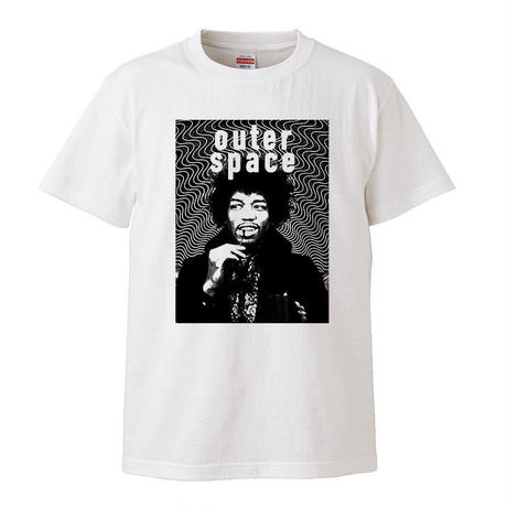 【 outer space/jimi hendrix-ジミ・ヘンドリックス】 5.6オンス Tシャツ/WH/ST- 387