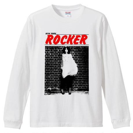 【 NEWYORK ROCKER/patti smith-パティ・スミス】 5.6Oz ロングスリーブTシャツ/WH/LT- 384