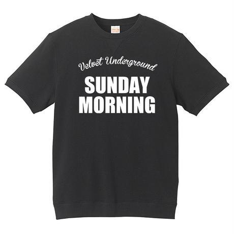 【The Velvet Underground-ヴェルヴェット・アンダーグラウンド/SUNDAY MORNING】8.4オンス ショートスリーブ スウェット/BK/SW-163