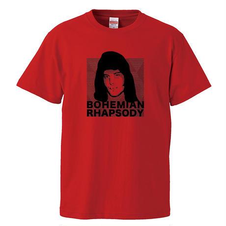 【ボヘミアン・ラプソディー/Freddie Mercury-フレディ・マーキュリー】5.6オンス Tシャツ/RD/ST- 312