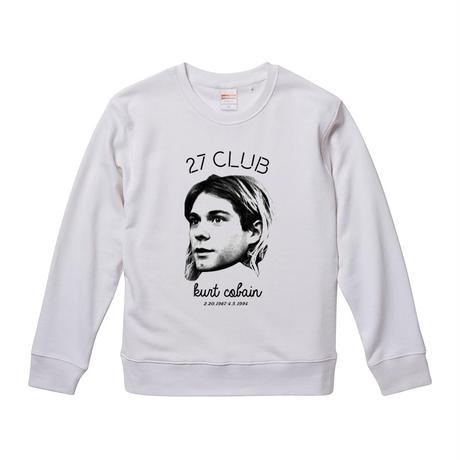 【27cub/Kurt Cobain-カート・コバーン】9.3オンス スウェット/WH/SW-325