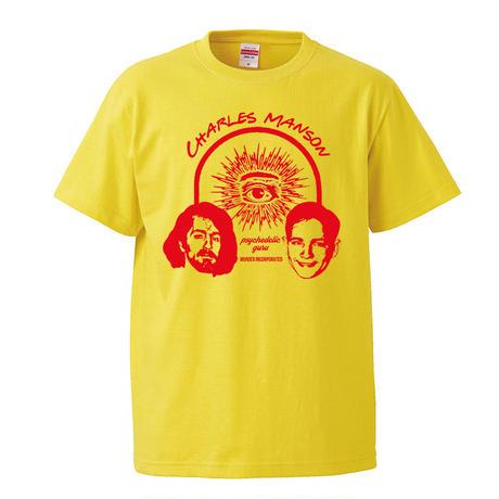 【 Charles Manson/チャールズマンソン】 5.6オンス Tシャツ/YL/ST- 386