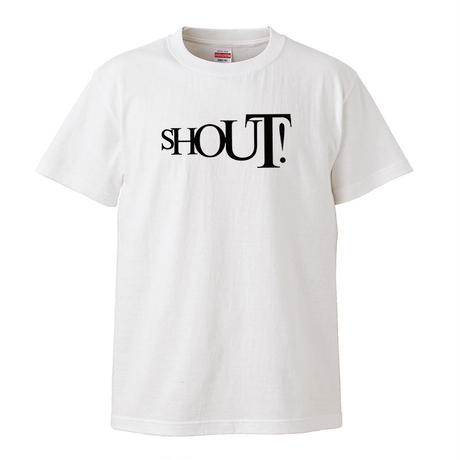【Shout!/アイズレーブラザーズ】5.6オンス Tシャツ/WH/ST-050_bk