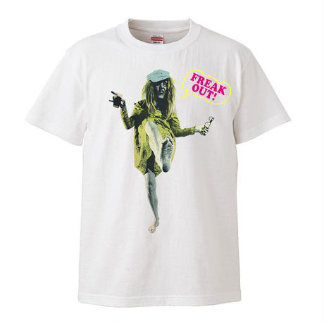 【Freak Out!-The Mothers of Invention /フリーク・アウト】5.6オンス Tシャツ/WH/ST- 284