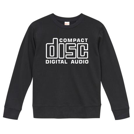 【 Compact Disc Digital Audio】 9.3オンス スウェット/BK/SW- 375