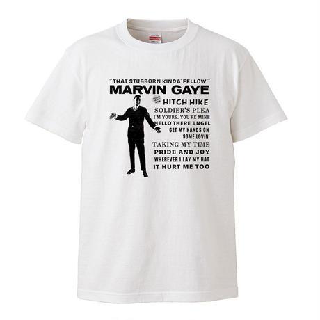 【Marvin Gaye-マーヴィン・ゲイ/stubborn kind of fellow】 5.6オンス Tシャツ/WH/ST- 303