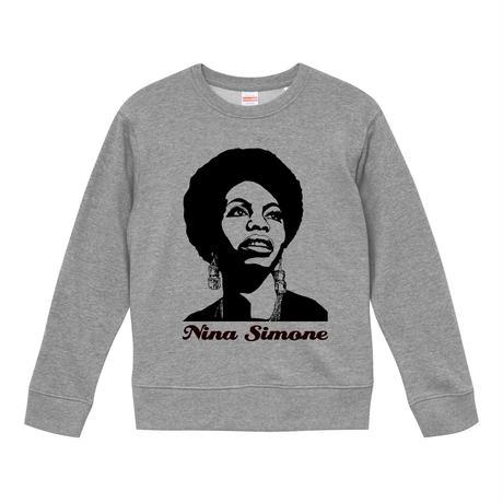 【Nina Simone/ニーナ・シモン】9.6オンス スウェット/GY/ST- 225
