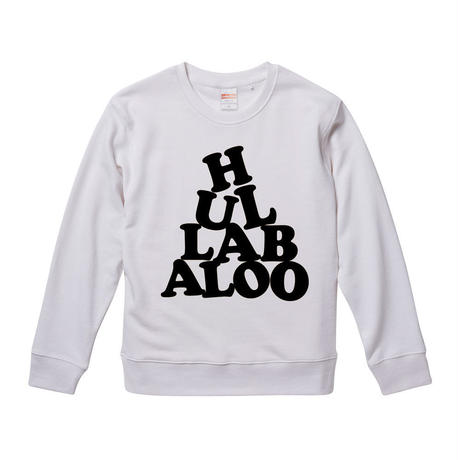 【 HULLABALOO/フラバルー】 9.3オンス スウェット/WHBK/SW- 383