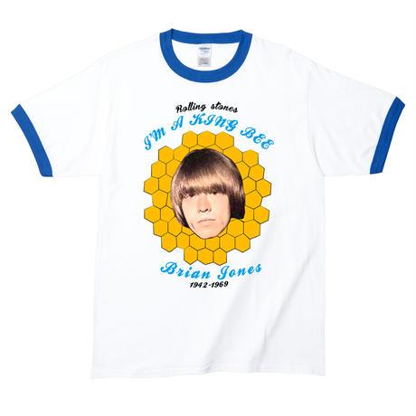 【Brian Jones-ブライアン・ジョーンズ/I'm A King Bee】5.3オンス Tシャツ/WH/RT- 255