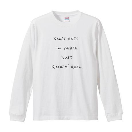 【JUST ROCK 'N' ROLL/内田裕也】5.6Oz ロングスリーブTシャツ/WH/LT- 313