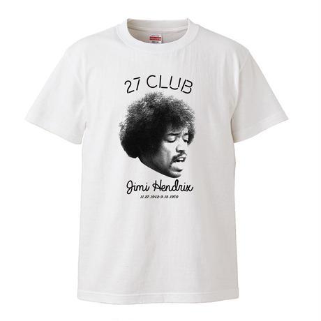 【27cub/Jimi hendrix-ジミ・ヘンドリックス】5.6オンス Tシャツ/WH/ST- 326