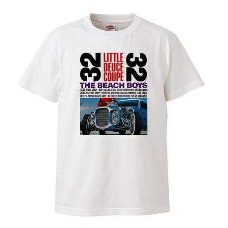 【リトル・デュース・クーペ/The Beach Boys-ビーチボーイズ】 5.6オンス Tシャツ/WH/ST- 382