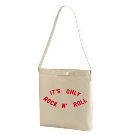 【The Rolling Stones-ローリングストーンズ/it's only rock 'n' rollヘビーキャンバス ショルダーバッグ/NT/TB- 239