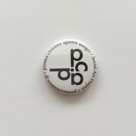 25mm LOGO PinBadge WHITE