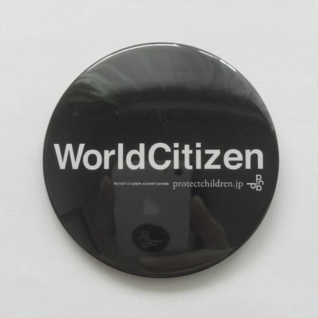 76mm TYPO PinBadge / WorldCitizen