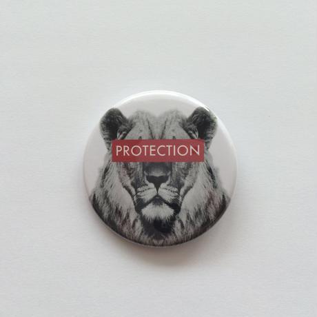 44mm ANIMAL PinBadge LION