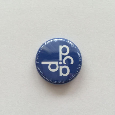 25mm LOGO PinBadge BLUE