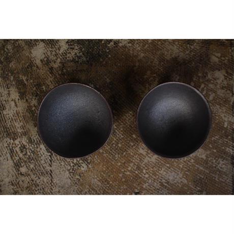黒石釉飯碗 井上茂