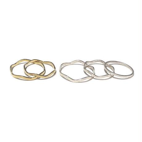 RawBrass  Ring 5SET / wave