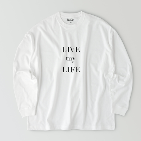【再販】LIVE my LIFE T-shirt / White
