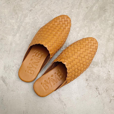 Mesh Leather Sandals :  Tan / BALI