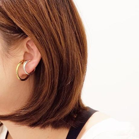 B E A U T Y : W face Ear Cuff Ring  / SVGP