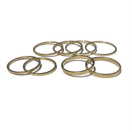 Raw Brass Ring 8SET / Line