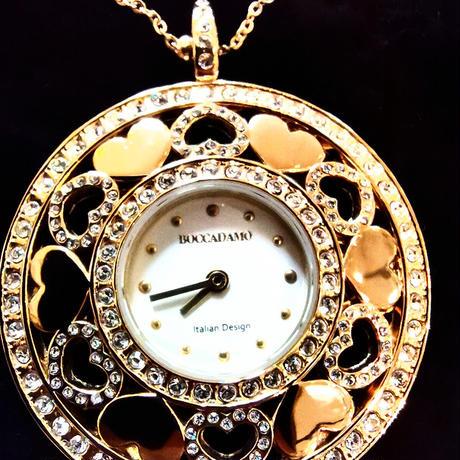 TIME IS LOVE ペンダントウォッチ (TL008) スワロフスキークリスタル