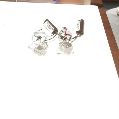 つや消しシルバーと手描きの桜のリング  【サイズ13】  (BAN013C)