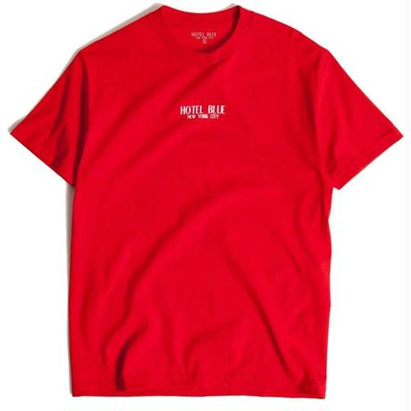HOTEL BLUE LOGO TEE RED