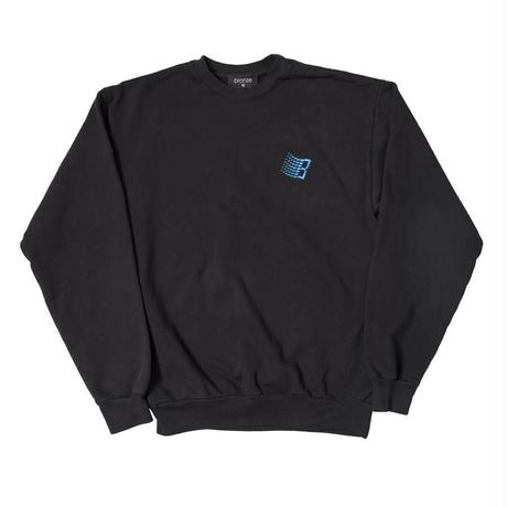 BRONZE56K EMBROIDERED B LOGO CREWNECK OFF BLACK