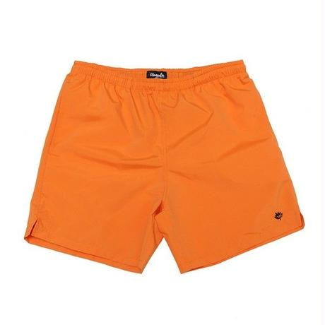 MAGENTA NYLON SHORTS - ORANGE