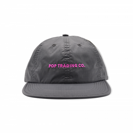 POP TRADING POP FLEXFOAM 6 PANEL HAT ANTHRACITE/PINK