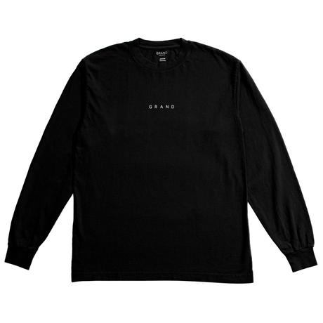 GRAND COLLECTION GRAND LONG SLEEVE TEE BLACK