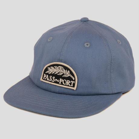 PASS~PORT QUILL PATCH 6 PANEL CAP STEEL BLUE