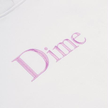 DIME CLASSIC EMBROIDERED HOODIE WHITE