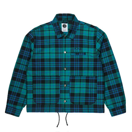 POLAR SKATE CO. PLAID WORK JKT P.MINT