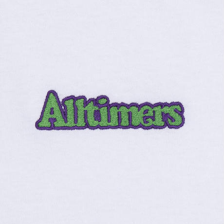 ALLTIMERS BROADWAY EMBROIDERED TEE WHITE
