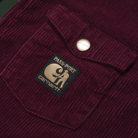 CARHARTT WIP & PASS~PORT JACKET BURGUNDY